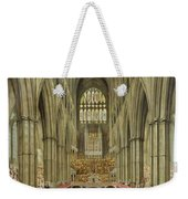 An Interior View Of Westminster Abbey On The Commemoration Of Handel's Centenary Weekender Tote Bag