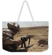 An Iraqi Army Soldier Prepares To Fire Weekender Tote Bag