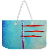An Issue With Blue Weekender Tote Bag by Snake Jagger