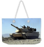 An M1a1 Main Battle Tank Weekender Tote Bag