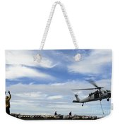 An Mh-60s Sea Hawk Lifts A Pallet Weekender Tote Bag