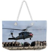 An Mh-60s Sea Hawk Lifts Cargo Weekender Tote Bag