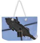 An Mh-60s Seahawk Helicopter Airlifts Weekender Tote Bag