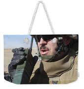 An Officer Relays Commands Weekender Tote Bag
