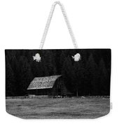 An Old Barn In Black And White Weekender Tote Bag