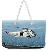 An Sh-3h Sea King Helicopter Prepares Weekender Tote Bag