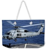 An Sh-60b Seahawk Helicopter Performs Weekender Tote Bag