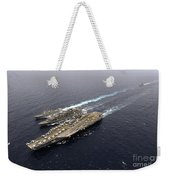 An Underway Replenishment With Ships Weekender Tote Bag