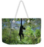 An Unidentified Monkey Hangs Weekender Tote Bag