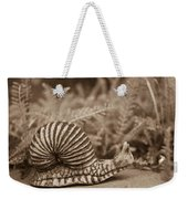 Ancient Snail Weekender Tote Bag