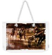and the winner is - A vintage processed Menorca trotting race Weekender Tote Bag