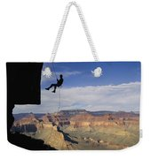 Andy Marquardt Rappels Down A Cliff Weekender Tote Bag