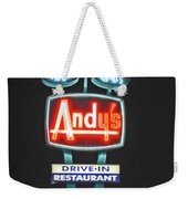 Andy's Drive-in Weekender Tote Bag