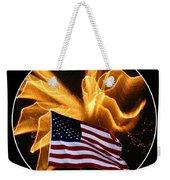 Angel Fireworks And American Flag Weekender Tote Bag by Rose Santuci-Sofranko