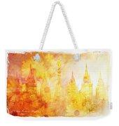 Angel Golden Weekender Tote Bag by La Rae  Roberts