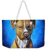 American Staffordshire Terrier Dog Painting Weekender Tote Bag