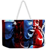 Anger In Red And Blue Weekender Tote Bag