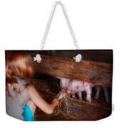 Animal - Pig - Feeding Piglets  Weekender Tote Bag