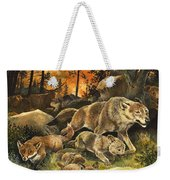 Animals United In Terror As They Flee From A Forest Fire Weekender Tote Bag