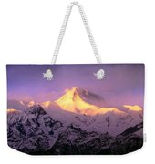 Annapurna South At Sunrise, Nepal Weekender Tote Bag