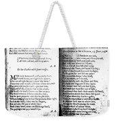 Anne Bradstreet Poems Weekender Tote Bag