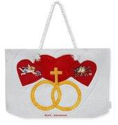 Anniversary Hearts Weekender Tote Bag