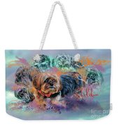 Another Birthday 112 Years Weekender Tote Bag by Kathy Tarochione