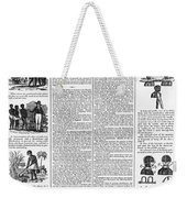 Anti-slavery Broadside Weekender Tote Bag