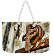 Antique - Door Rail - Rusty Weekender Tote Bag
