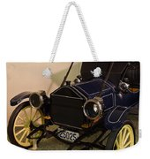 Antique Automobile With Yellow Spoke Wheels Weekender Tote Bag