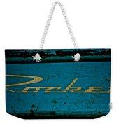 Antique Blue Wagon Weekender Tote Bag
