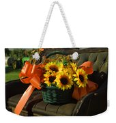 Antique Buggy And Sunflowers Weekender Tote Bag