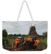 Antique Buggy In Fall Colors Weekender Tote Bag