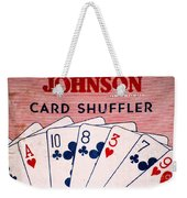Antique Card Shuffler Weekender Tote Bag