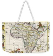 Antique Map Of Africa Weekender Tote Bag by Dutch School