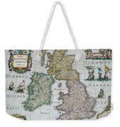 Antique Map Of Britain Weekender Tote Bag by English School