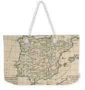 Antique Map Of Spain Weekender Tote Bag
