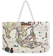 Antique Map Showing Southeast Asia And The East Indies Weekender Tote Bag