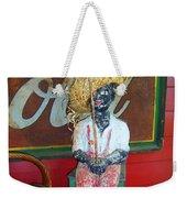 Antique Plaster Black Child Fisherman With Coca Cola Background Weekender Tote Bag
