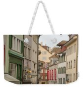 Antique Shop Sign On A Shopping Street Weekender Tote Bag