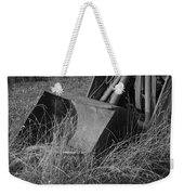 Antique Tractor Bucket In Black And White Weekender Tote Bag by Jennifer Ancker
