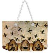 Apiculture-beekeeping-14th Century Weekender Tote Bag by Science Source