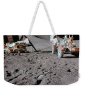 Apollo 15 Astronaut Works At The Lunar Weekender Tote Bag