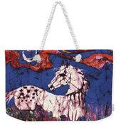 Appaloosa In Flower Field Weekender Tote Bag
