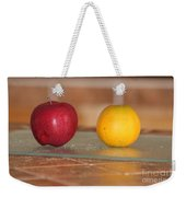 Apple And Orange Weekender Tote Bag