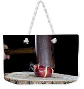 Apple Smashed With Mallet Weekender Tote Bag