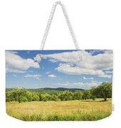 Apple Trees And Hay Field In Summer Maine Weekender Tote Bag