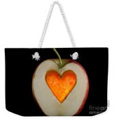 Apple With A Heart Weekender Tote Bag