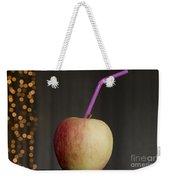 Apple With Straw Weekender Tote Bag