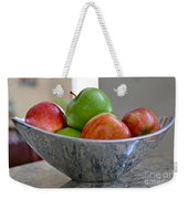 Apples In Fruit Bowl Weekender Tote Bag